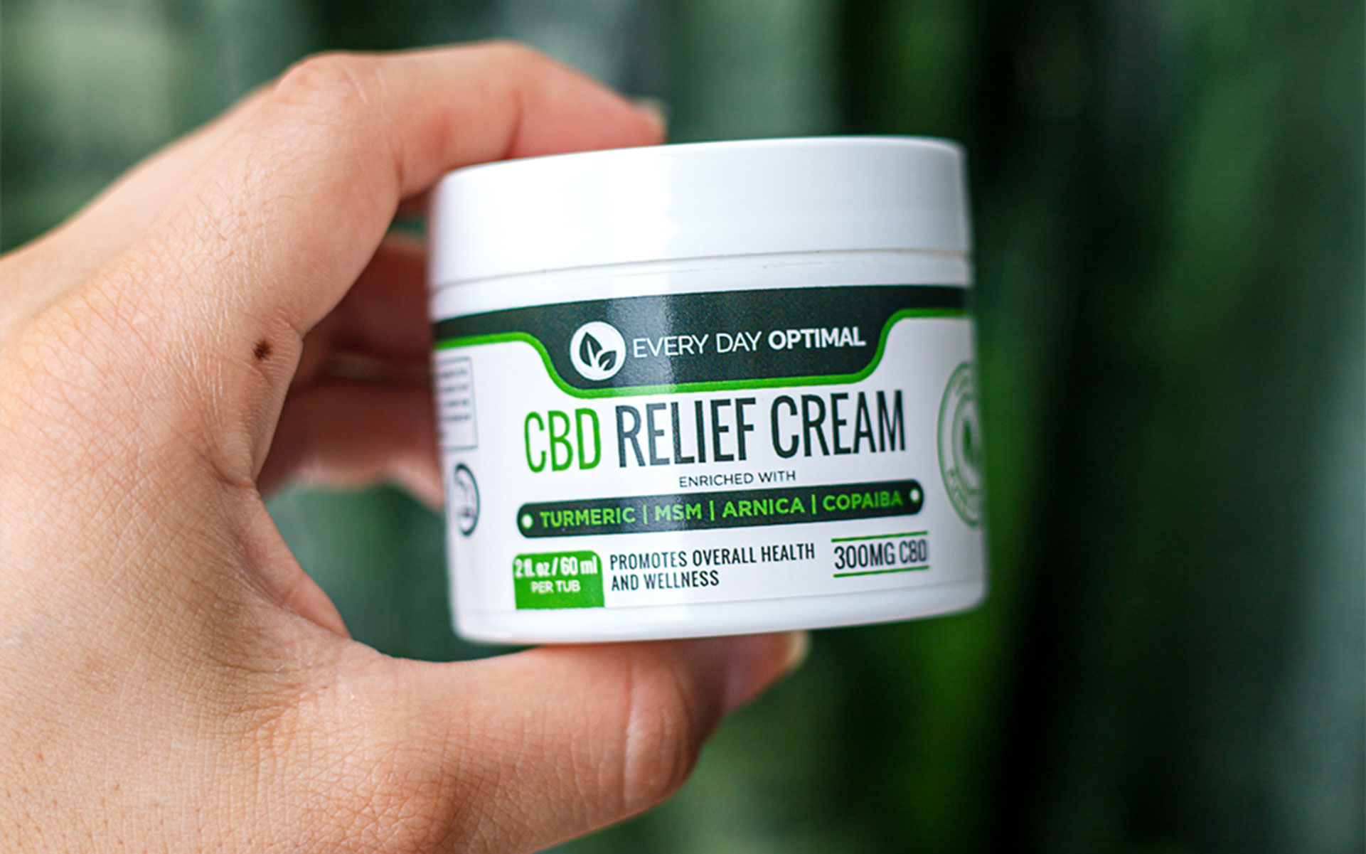 The CBD pain cream made with superfood ingredients by Every Day Optimal