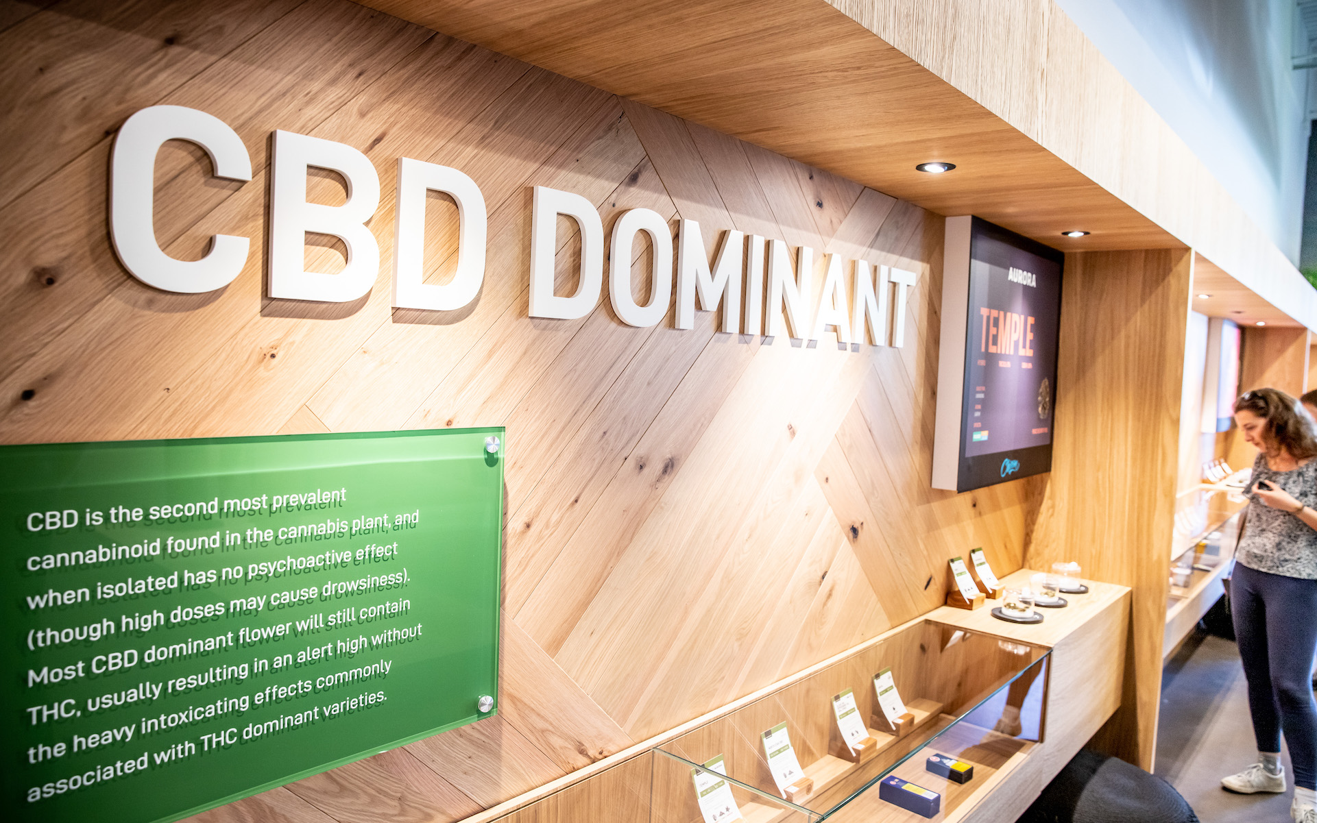 How THC helps CBD without high; CBD dominant retail experience