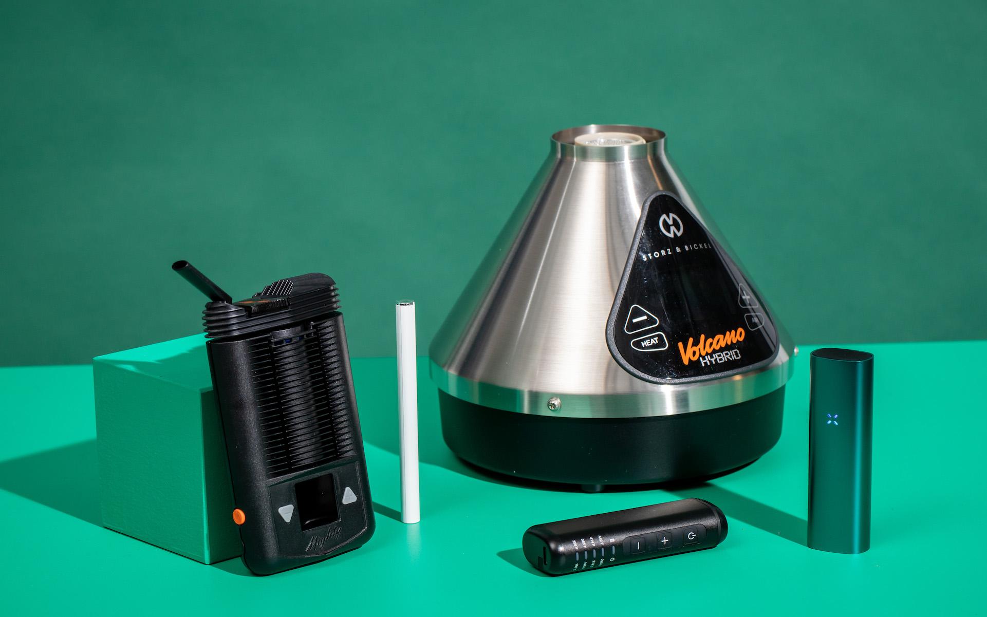 Leafly types vaporizers Volcano, Mighty, Pax, Vapium, vape pen