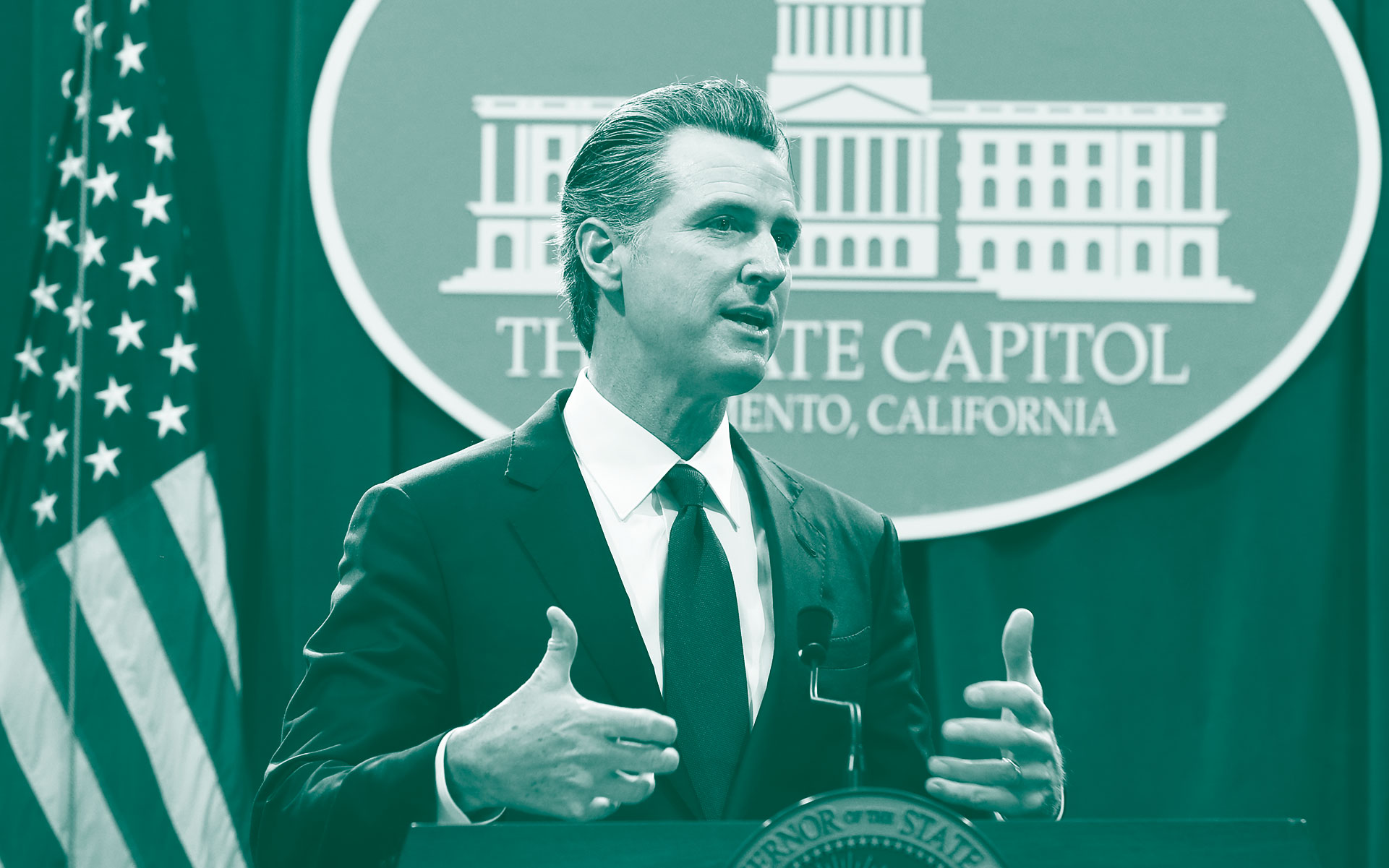 "California Gov. Gavin Newsom scored a ""B"" on cannabis policy, according to NORML. (AP Photo/Rich Pedroncelli)"