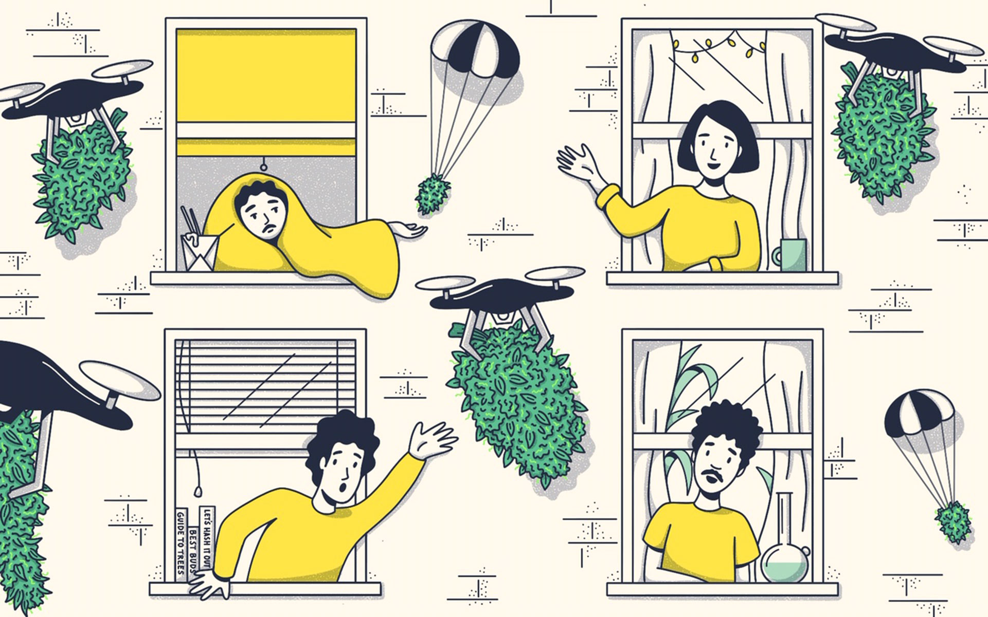 cannabis drone delivery, marijuana delivery