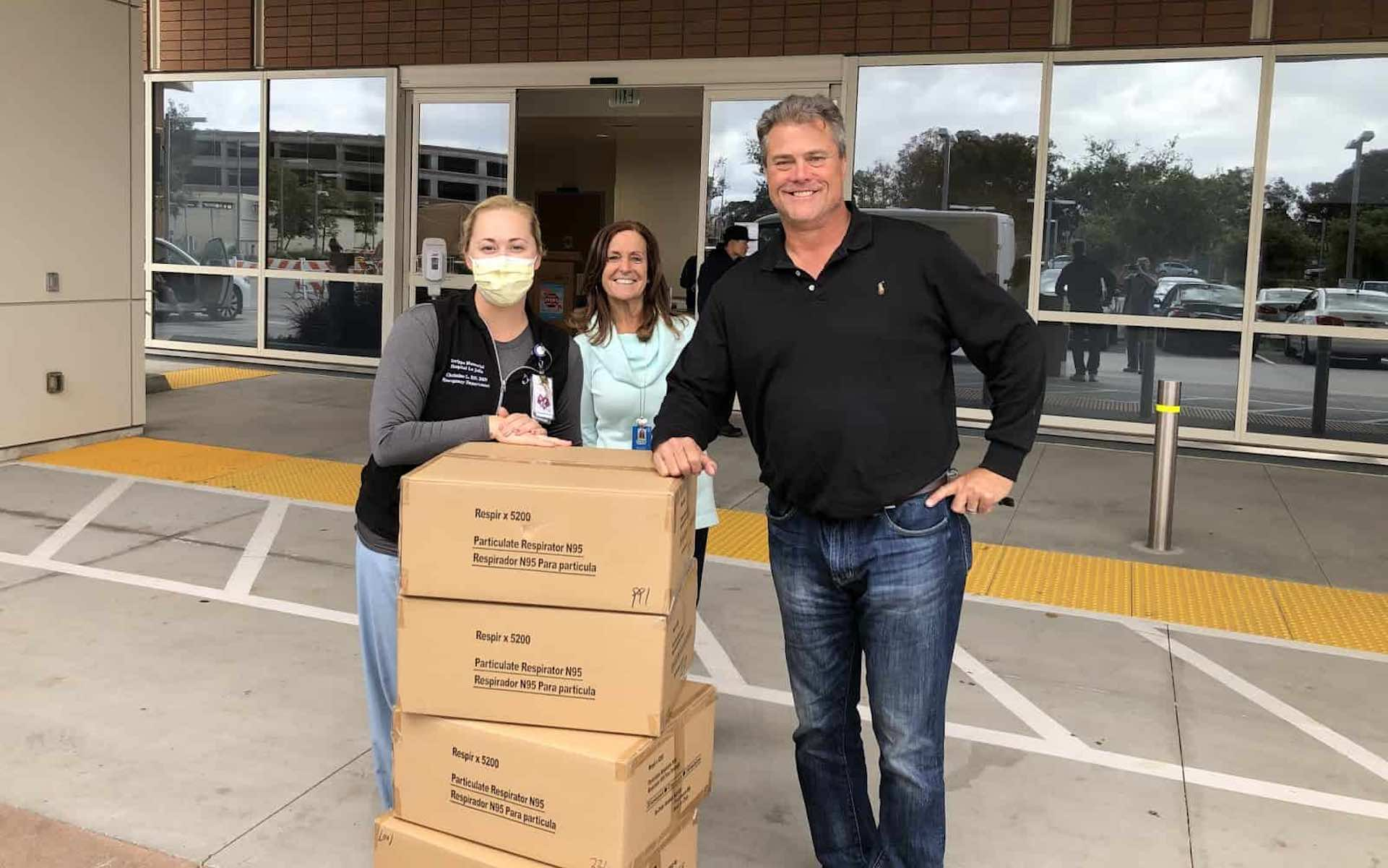 Torrey Holistics' San Diego owners donate N95 masks; part of ongoing COVID=19 relief efforts. (Courtesy Torrey Holistics)